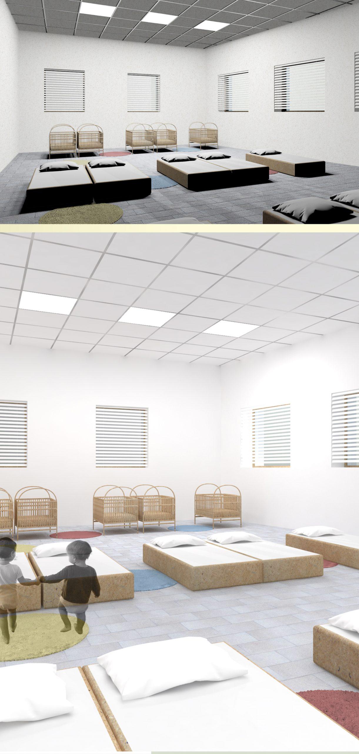 3 luci dimmerabili - stanza del sonno